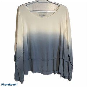 Tempo Paris Flowy Long Sleeve Blouse size S